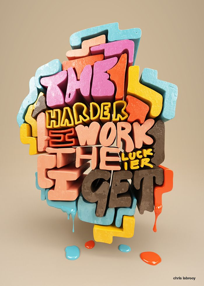 Amazing 3D #typography by Chris-LaBrooy