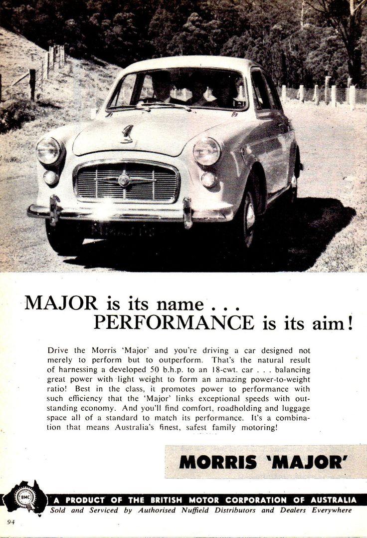 https://flic.kr/p/VdTGo8   1959 Morris Major BMC Aussie Original Magazine Advertisement