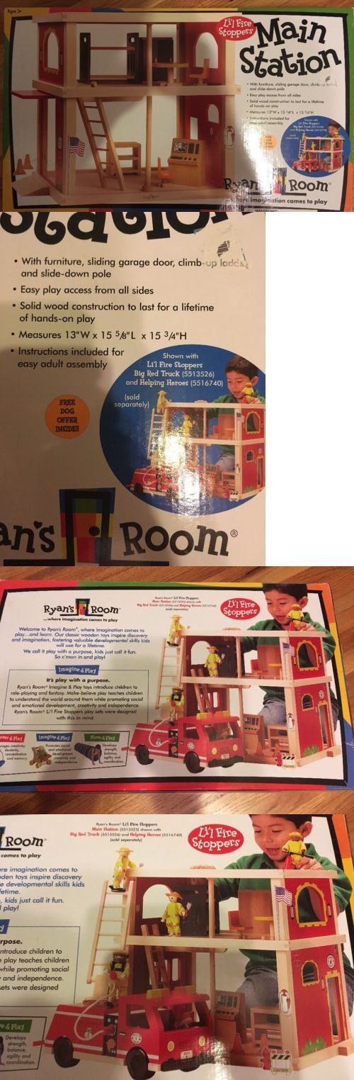 Wooden and Handcrafted Toys 1197: Lil Fire Stoppers Main Station Ryan S Room Wooden Playset New House Fireman -> BUY IT NOW ONLY: $32.99 on eBay!