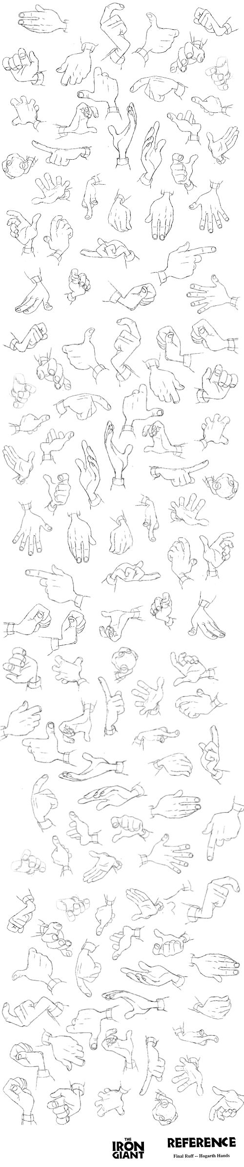 Hands! Iron Giant ✤ || CHARACTER DESIGN REFERENCES