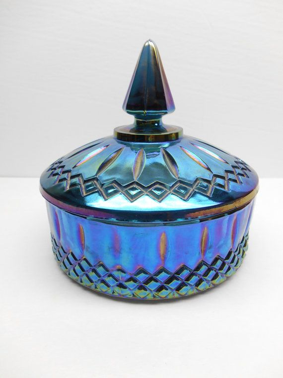 /vintage-blue-carnival-glass-candy-dish