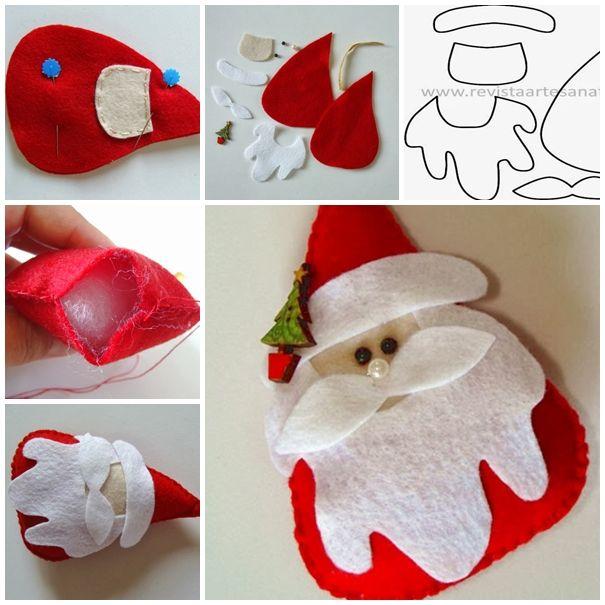 sentiva Santa DIY F2 meraviglioso fai da te in feltro Santa Con Template gratuito