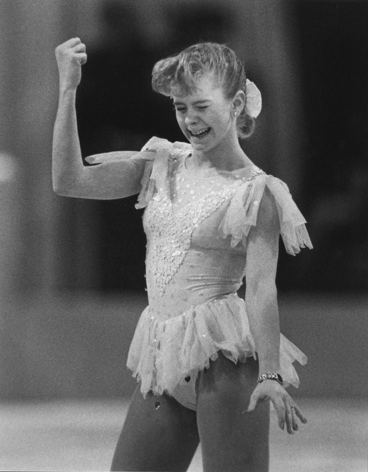 best olympics nancy and tonya and kristi yamaguchi images on  tonya harding reacts at the 1990 united states figure skating championships in salt lake city