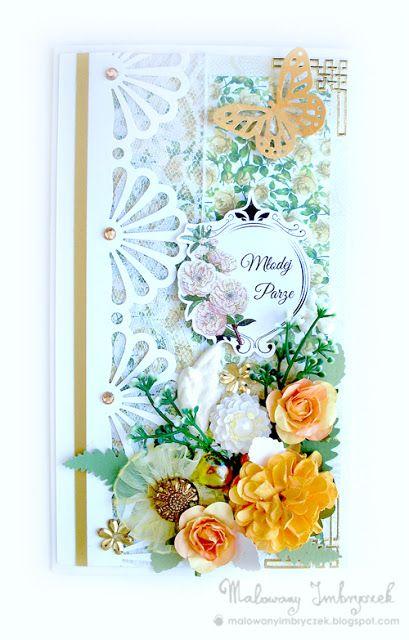 Ślubnie   :)  #scrapbooking, #card, #kartka, #handmade, #rękodzieło, #malowanyimbryczek, #heart, #flower, #wedding, #ślub, #wesele, #ślubne,