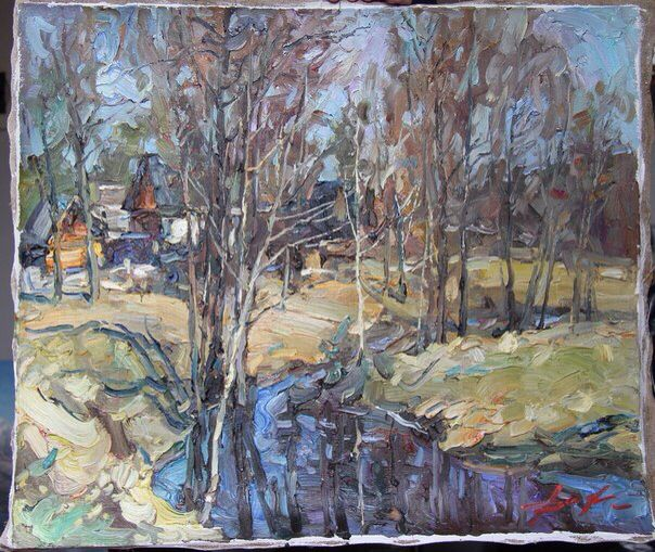 Oil on canvas. 50/70 2006. Rive Shuyka.