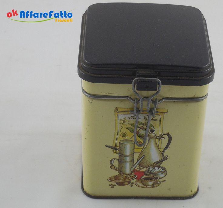 H 575 PICCOLO BARATTOLO DI LATTA CAFFE' ARABICA FORMA QUADRATA TORREFAZIONE CATTO - http://www.okaffarefattofrascati.com/?product=h-575-piccolo-barattolo-di-latta-caffe-arabica-forma-quadrata-torrefazione-catto