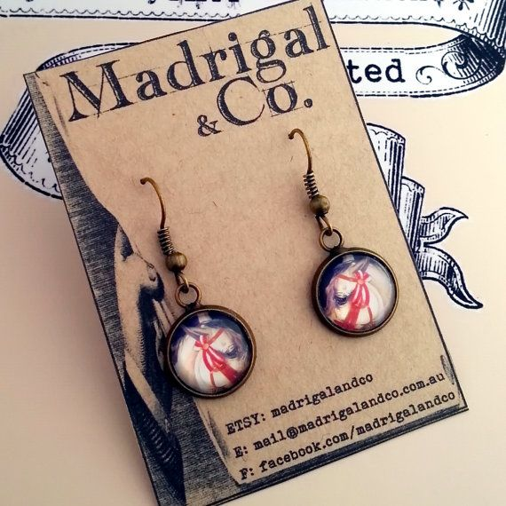 Check out this item in my Etsy shop https://www.etsy.com/au/listing/197428492/horse-themed-earrings-set-in-nickel-free