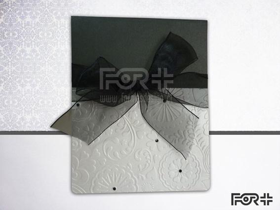 Parte de Matrimonio en blanco y negro con textura y toques brillantes
