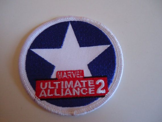 New #Marvel Ultimate Alliance Cirlce Star Fabric Iron On Patch by POPWILDLIFE, $6.00