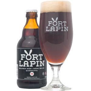Fort Lapin Quadrupel - 10%vol In dit bier zijn er 8 soorten mout verwerkt. Daarnaast zorgen de kruiden voor een mooie ballans, er werd onder andere gebruik gemaakt van kruidnagel, vanille, koriander, kaneel en jeneverbes.  Hopsoorten: merkur en hallertau mittelfruh.