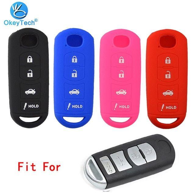 For MAZDA 2 3 5 6 CX-5 CX-7 MX5 Silicone Remote Key Case Fob Cover Protector