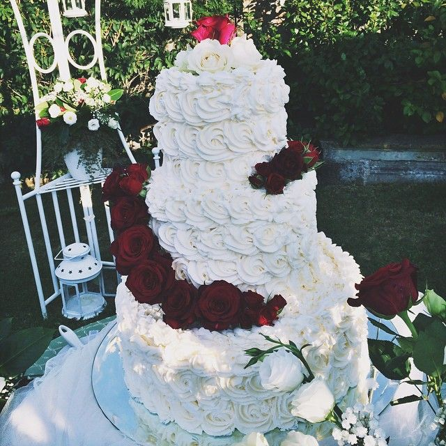 One of our beautiful #wedding #cakes made by our super talented Chef! zia_cathys's photo on Instagram