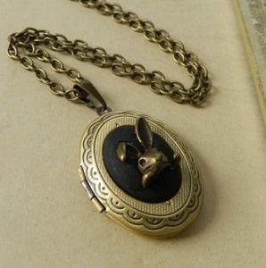 Image of ~Wonderland~ Inspired Rabbit Locket Necklace
