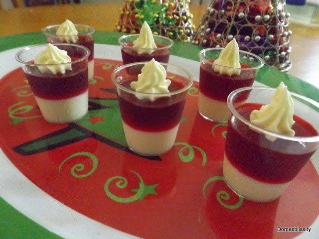 Santa Hat Jelly (Jello) Shots - Domesblissity