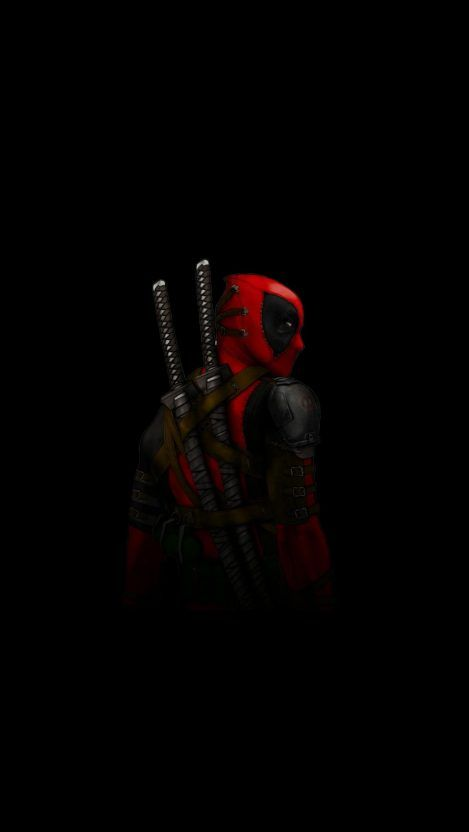 DeadPool AMOLED iPhone Wallpaper