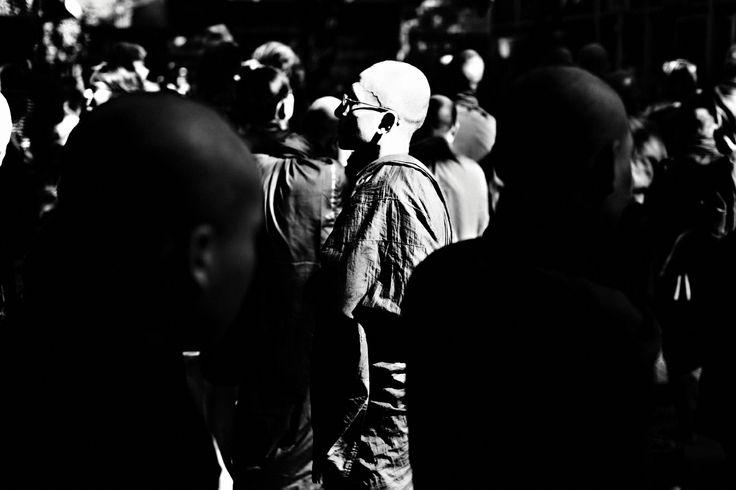 People by Kjetil Hasselgård - monks in crowd -myanmar - burma - http://kjetilhasselgaard.com