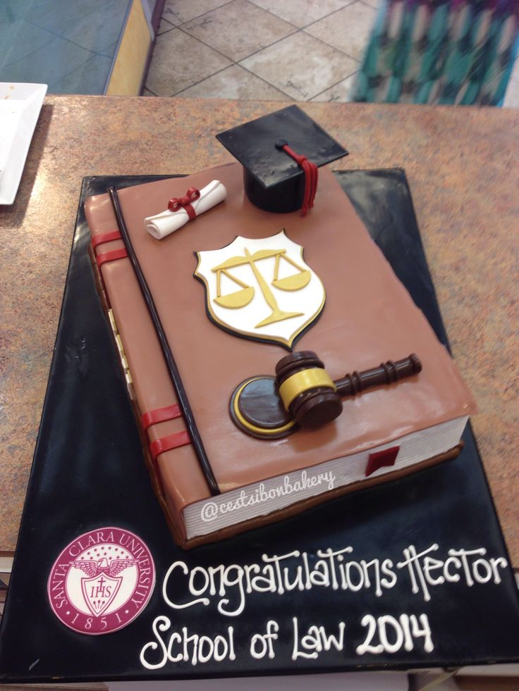 Law school graduation cake