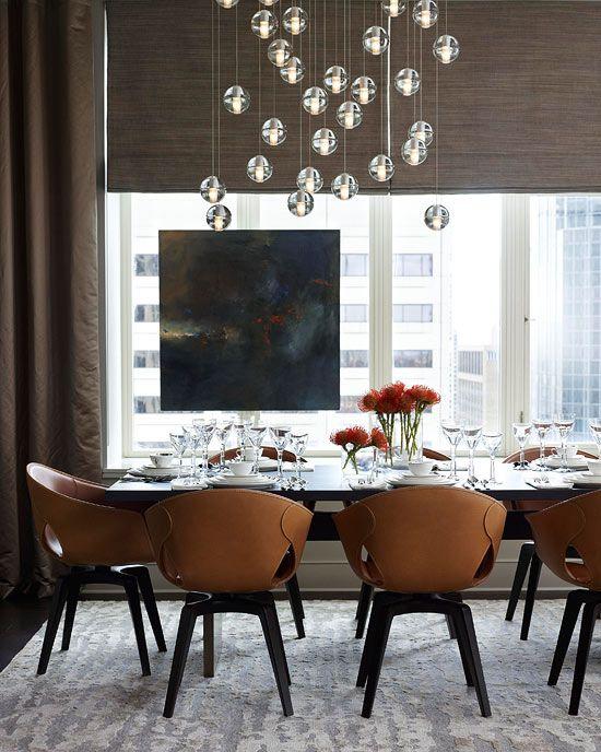 Poltrona Frau chairs and Bocci lighting