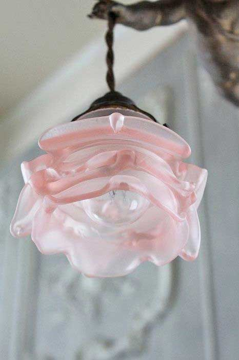 Lovely rose light. A few of these would be nice over the bathroom mirror.