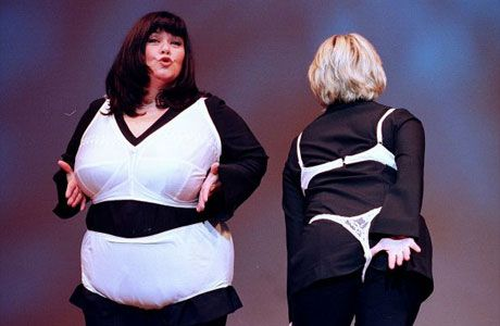 Jennifer Saunders and Dawn French two of Britain's best Comediennes.