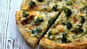 Quiche s modrým sýrem a brokolicí Foto: