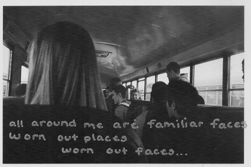 i think this picture is really perfect for this song quote... i think the same every time i go to school