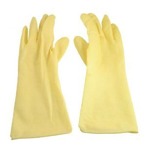 "Amico Pair Houseworking Light Yellow Latex Long Washing Cleaning Gloves by Amico. $4.40. Color : Light Yellow;Material : Latex. Package Contents : 1 Pair x Clean Latex Gloves. Weight : 74g. Wrist Open Width : 12cm/ 4.7"";Size : 31 x 13cm/ 12.2"" x 5.1"" (L*W). Product Name : Clean Latex Gloves;Fitness : Unisex. Protect hands from corrosive action of chemicals, cold water and other harsh substances. Made of latex, long cuffs can perfect protect your wrists. Comfortable and easy f..."