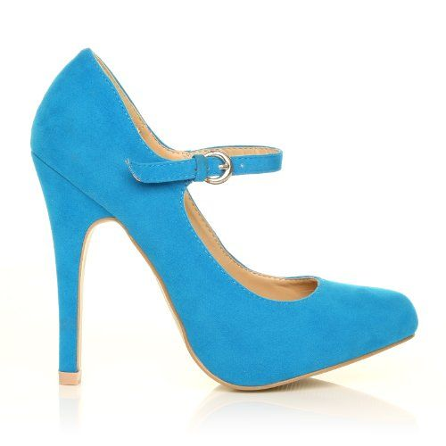 MISCHA Women's Faux Suede Stiletto Very High Heel Turquoise Shoes Size 5 ShuWish UK http://www.amazon.com/dp/B00KFR5ANU/ref=cm_sw_r_pi_dp_fUj9ub0BR8NWS