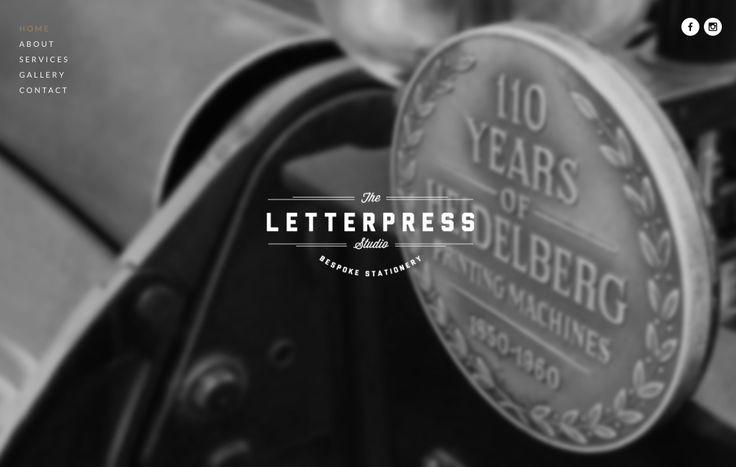 The Letterpress Studio website is now live!! Make sure to check it out - www.theletterpressstudio.com.au