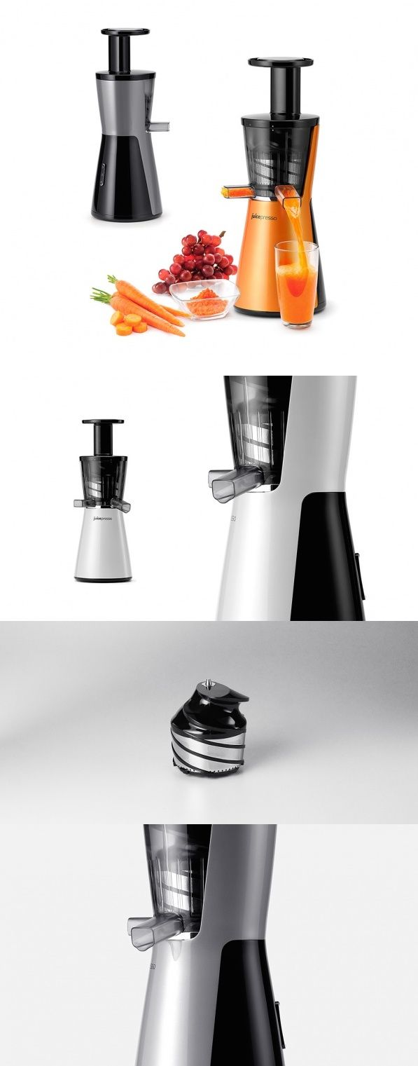 JuicePresso X is so named for the unique way it extracts the liquid goodies from your favorite fruits and veggies! Traditional juicers use fast-spinning blades that cause frictional heat and shock to the food thereby jeopardizing the nutrient value. The slow yet strong large screw of the JuicePresso crushes fruits and veggies at a very low speed against the internal sides to preserve nutrients as much as possible. #JuicePresso #Technology #Design #Kitchen #Appliances #YankoDesign