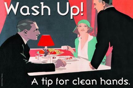 Wash Up! A Tip for Clean Hands 20x30 poster