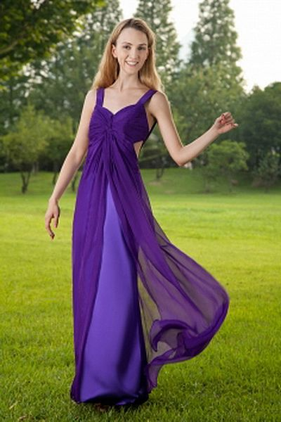 Straps Purple Chiffon Homecoming Gown sfp1681 - http://www.shopforparty.com/straps-purple-chiffon-homecoming-gown-sfp1681.html - COLOR: Purple; SILHOUETTE: A-Line; NECKLINE: Straps; EMBELLISHMENTS: Ruched; FABRIC: Chiffon - 188USD