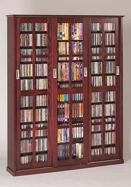 Leslie Dame Ms 1050dc Mission Style Multimedia Storage Cabinet With