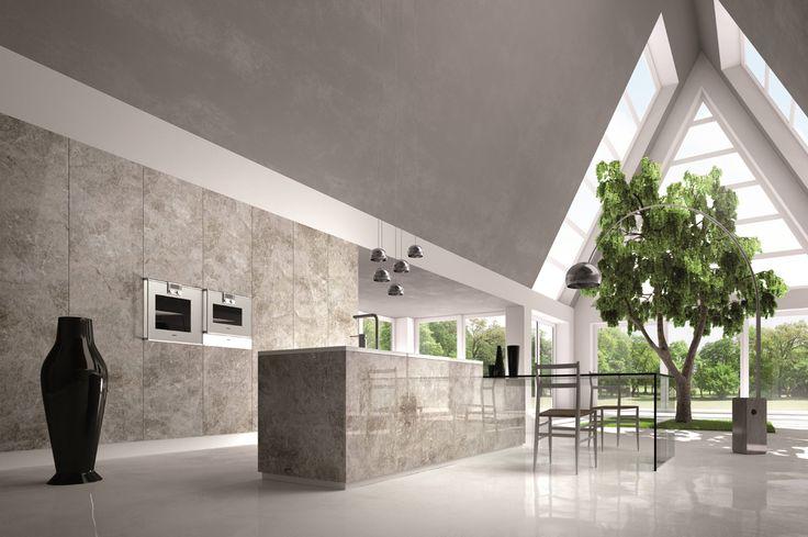 #NaicaQuartz kitchen by #Antolini