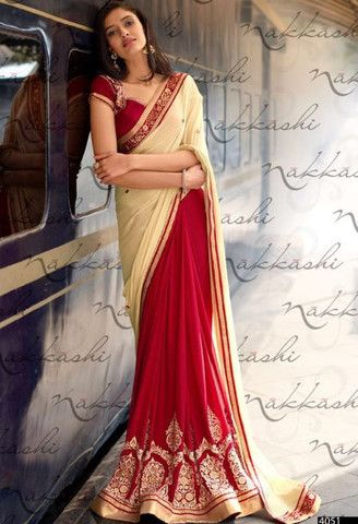 Red Chiffon Designer Saree..@ fashionsbyindia.com #designs #indian #fashion #womens #style #cloths #clothes #stylish #casual #fashionsbyindia #punjabi #suits #wedding #saree #chic #elegance #beauty #outfits #fantasy #embroidered #dress #PakistaniFashion #Fashion #Longsuit #FloralEmbroidery #Fashionista #Fashion2015 #IndianWear #WeddingWear #Bridesmaid #BridalWear #PartyWear #Occasion #OnlineShopping