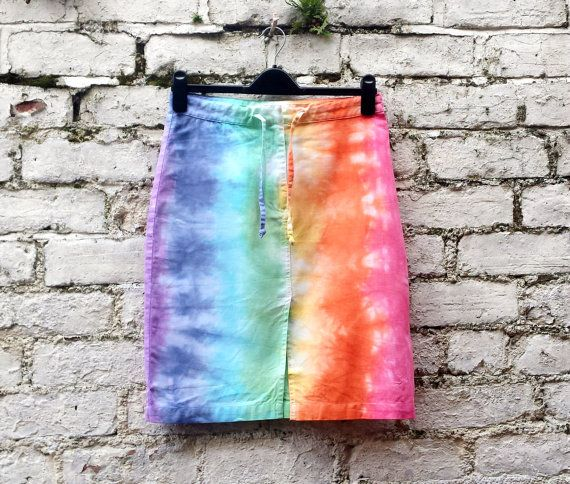 Rainbow Skirt Hippie Skirt to fit UK Size 10 or US by AbiDashery