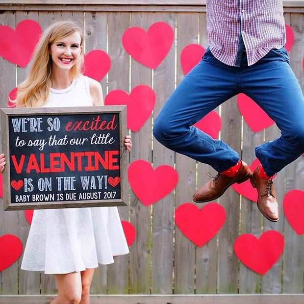 We're so excited to say that our little Valentine is on the way!
