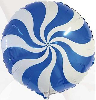 Balão Pirulito Azul Redemoinho dos Doces Candy Swirl Blue - Estilo e festas