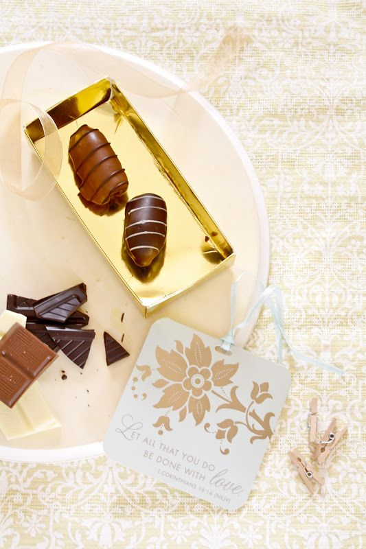 Luxury Dates with Nuts and Chocolate