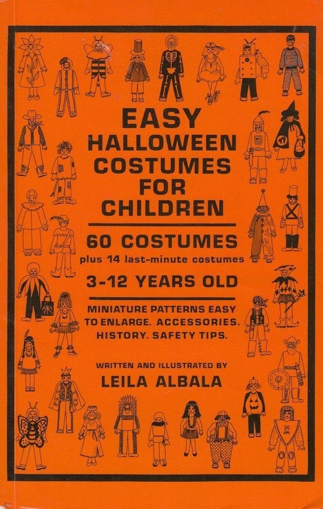 Easy Halloween Costumes for Children 3-12 Years Old 60 Costumes Patterns 1986