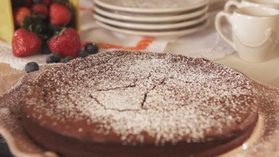 Just watched her make this and I can't wait to try it! Nana Jose's Flourless Chocolate Pecan Cake