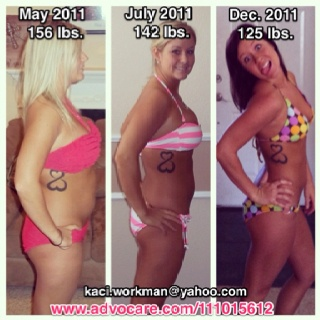 AdvoCare does a body good!!!! I would not be where I am today if it weren't for the amazing products they provide!! Email me for more information on how to drop 20 pounds in 24 days!!**  *Results vary on body type, exercise regimen, and food intake!