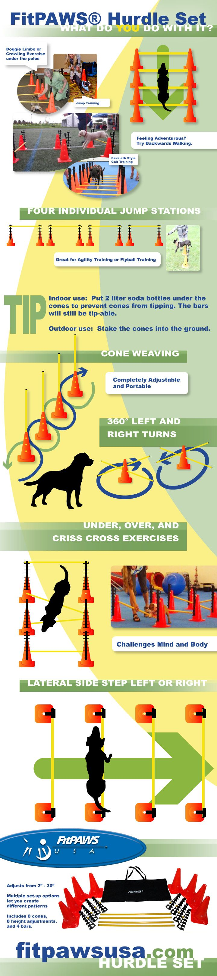 9 ways to use the FitPAWS® Hurdle Set! - #infographic #dogs #fitness - fitpawsusa.com -