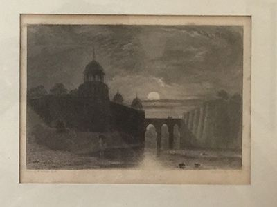 Bridge from Red Fort to Saleemgargh c1830