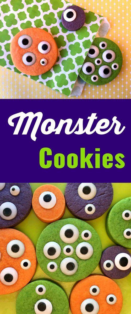 These monster sugar cookies are out of this world. They are perfect for a Halloween or any other kind of kid party. They also make great hand-outs at Trick-or-Treat time.