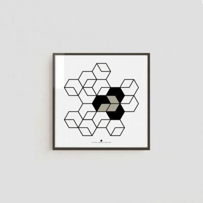 Kostka, grafika No. B005 // After Hours Design