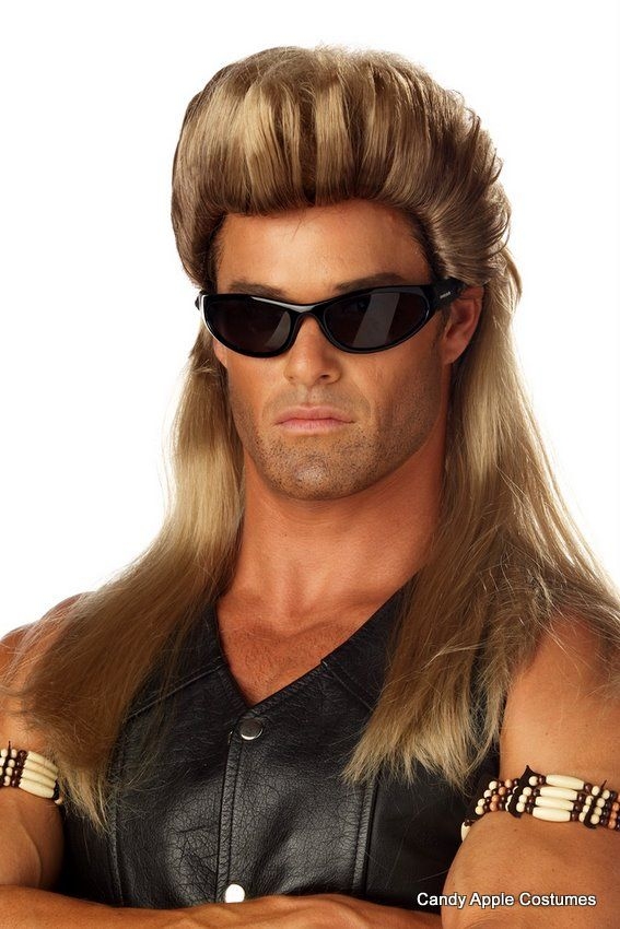 bail enforcer dirty blonde mullet wig candy apple costumes biker costumes - Halloween Costumes With Blonde Wig