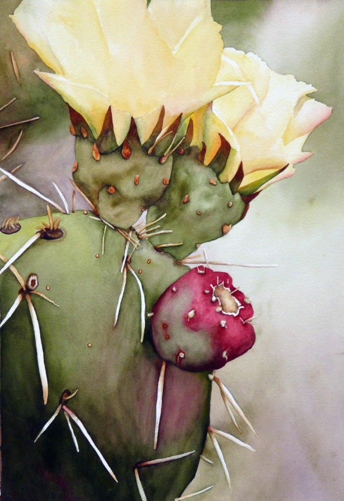 Blooming cactus, Linda Raven Brake