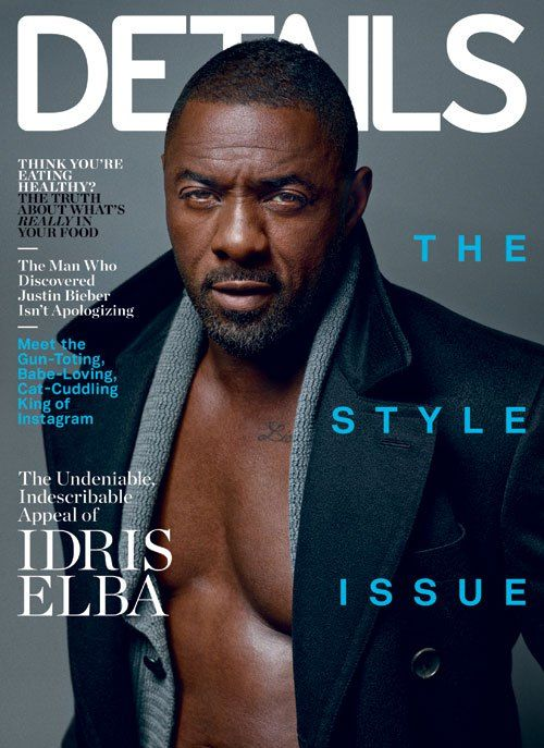 Idris Elba! Yasss Gawwd!   DETAilS Magazine's September 2014 cover guy.