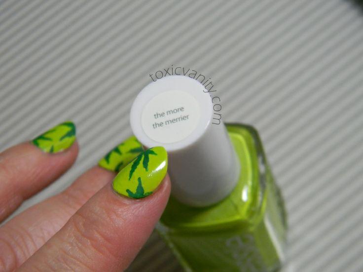 Día 4: Verde | Uñas decoradas de Marihuana | Toxic Vanity